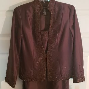 NWT Cachet Formal Beaded Dress and Jacket